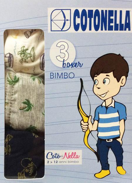 Παιδικό αγορίστικο μπόξερ COTONELLA AB2510F100 3ΤΕΜ./ΣΥΣΚ.